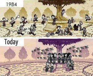 tech 1984 and today cartoon