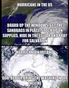 HURRICAN IRELAND FUNNY PIC