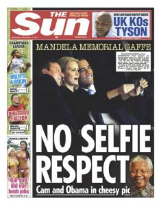 selfie obama at mandela
