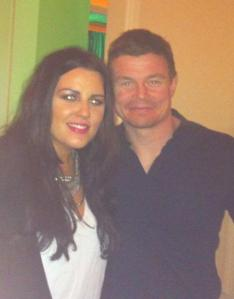bod and laura at rugby party