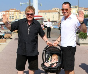elton and david with zachary
