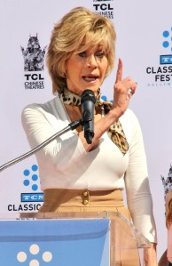 Handprint and footprint ceremony honouring actress Jane Fonda