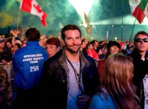 bradley cooper and michael fassbender at glasto