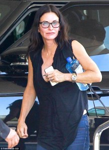courtney cox - no makeup
